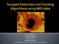 Sunspot detection and tracking algorithms using MDI data