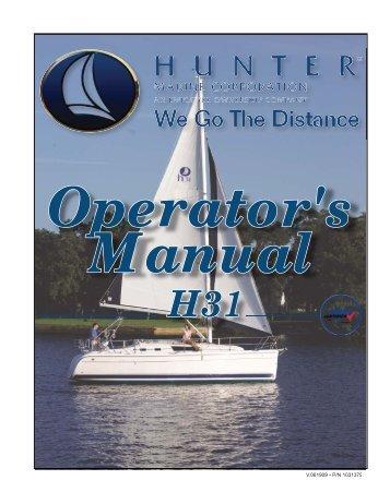 31 Operator's Manual.. - Marlow-Hunter, LLC
