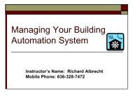 Managing Your Building Automation System ... - Mepc-mn.org