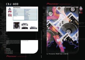 platine numerique cdj-800