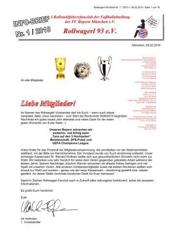 Liebe Mitglieder! - Rollwagerl 93 eV