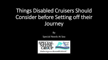 Things Disabled Cruisers Should Consider before Setting off their Journey