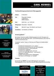 Hydraulische-Rettungsgeraete Seminar für Gerätewarte - Fire-Circle