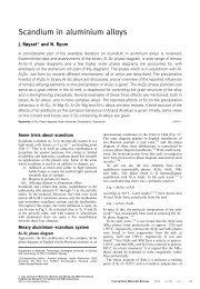Scandium in aluminium alloys - Seidman Group