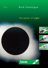 Bulb Catalogue XCB604 - Lucas Electrical