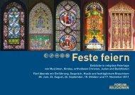 Feste feiern - Zürcher Forum der Religionen