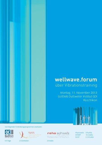 Flyer Wellwave.forum 2013 - Swiss Athletics