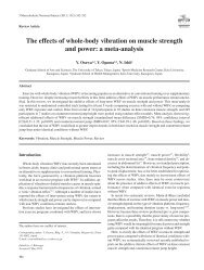 The effects of whole-body vibration on muscle strength and power: a ...