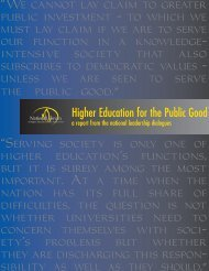 Higher Education for the Public Good - The National Forum on ...