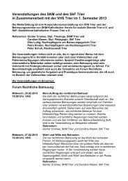 Veranstaltungen des SKM Trier im 2 - Ehrenamtsagentur Trier