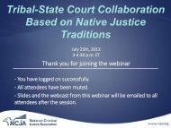 View the powerpoint slides - National Criminal Justice Association