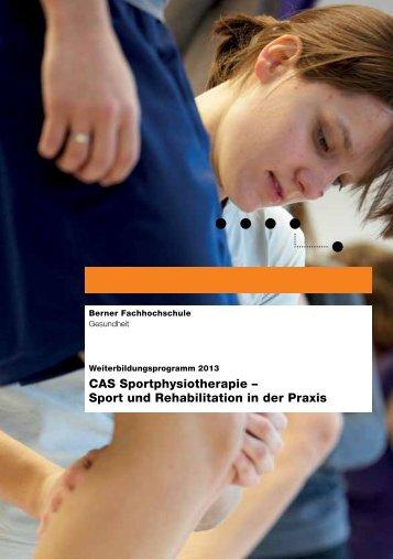 CAS Sportphysiotherapie – Sport und Rehabilitation in der ... - SART