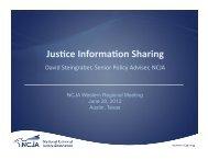 Jus ce Informa on Sharing - National Criminal Justice Association