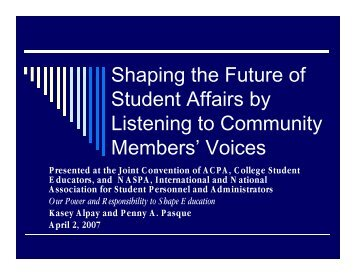 shaping_the_future_p.. - The National Forum on Higher Education ...