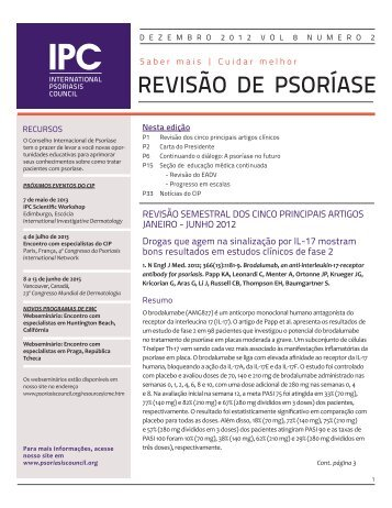 REVISÃO DE PSORÍASE - International Psoriasis Council
