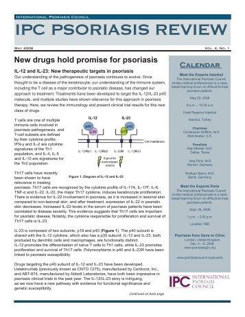 May 2008 - International Psoriasis Council