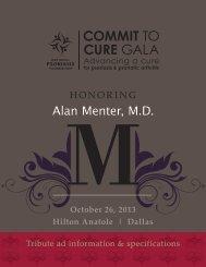 Alan Menter, M.D. - National Psoriasis Foundation