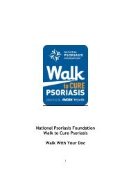 Walk with your Doc Guide final - Walk to Cure Psoriasis - National ...