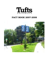 TUFTS UNIVERSITY - Office of the Provost and Senior Vice President