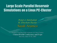 Large Scale Parallel Reservoir Simulations on a Linux PC-Cluster ...
