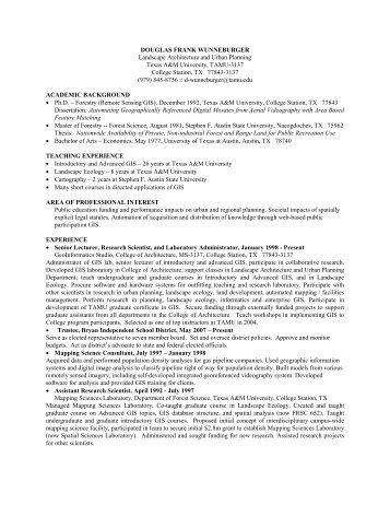 Curriculum Vitae ( 397.9 KB) - Landscape Architecture and Urban ...