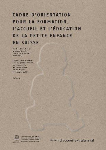 caDre D'OrieNtatiON - Marie Meierhofer Institut für das Kind