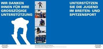 Flyer Stiftung Bachtel - Skiclub am Bachtel