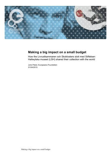 Making Impact on a Small Budget - LSH Case Study
