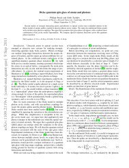 Dicke quantum spin glass of atoms and photons - Research topics