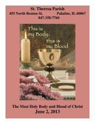 000409 060213 (Read-Only) - St. Theresa Parish