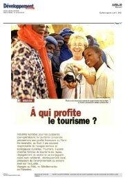 A qui profite le tourisme FAIM DEVELOPPEMENT ... - Ecpat France
