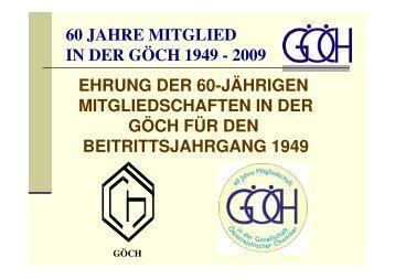 60 JAHRE MITGLIED-2009