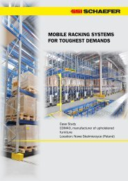MOBILE RACKING SYSTEMS FOR TOUGHEST DEMANDS