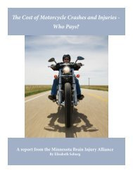 The Cost of Motorcycle Crashes and Injuries - Minnesota Brain ...