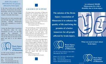 General Information Brochure - Minnesota Brain Injury Alliance