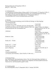 Beitragsordnung des TV Hasperbach 1898 e.V. gültig ab 1. Januar ...