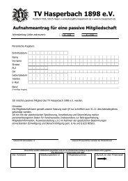 Klick auf das Formular - TV Hasperbach 1898 eV
