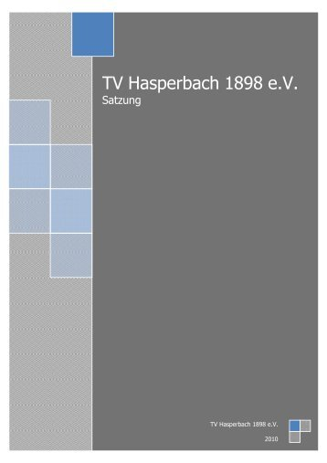 Eine PDF-Version steht Euch hier zur Verfügung - TV Hasperbach