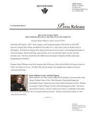 Designer Bunny Williams to deliver keynote lecture Winterthur, DE ...