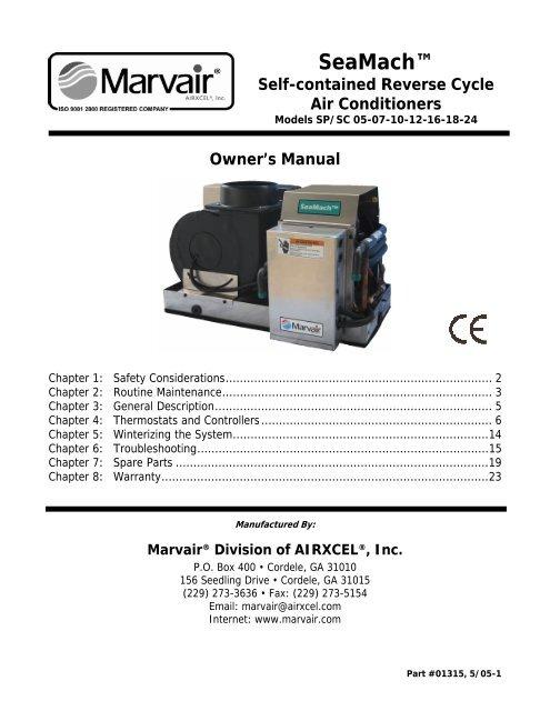 Marvair SP-SC Air pdf - Marlow-Hunter, LLC