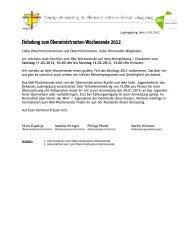 Einladung Omi-WE 2012