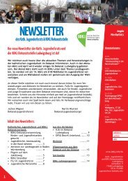 NEWSLETTER - Katholisches Jugendreferat