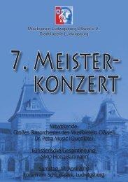 Programmheft - Musikverein Oßweil Stadtkapelle Ludwigsburg