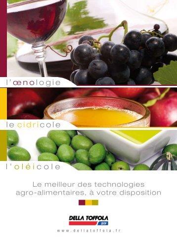 téléchargez notre toute nouvelle plaquette - Della Toffola France