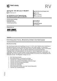 Antrag Nr. V/A 183 vom 17.08.2011 - DIE LINKE. Fraktion im Stadtrat ...