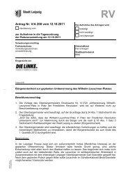 Antrag Nr. V/A 208 vom 12.10.2011 - DIE LINKE. Fraktion im Stadtrat ...