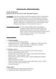 Sociální pedagogika - Pf UJEP