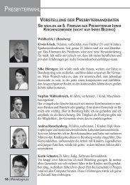 PRESBYTERWAHL - Evangelische Kirchengemeinde Bensberg