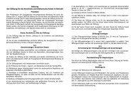 Satzung der Stiftung für die kirchliche und diakonische Arbeit in ...