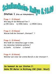 So kommst du zur Station 2: Gehe 50 Meter in Richtung SW (Süd ...